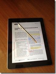 PDFNotes на iPad со стилусом